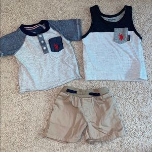 12 month boy Polo outfit